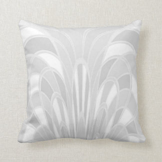 Mushroom Abstract - Art Deco - White Throw Pillow