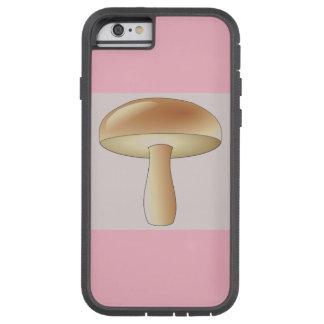 Mushroom Art Deco Chic Phone Case Pink Color Block