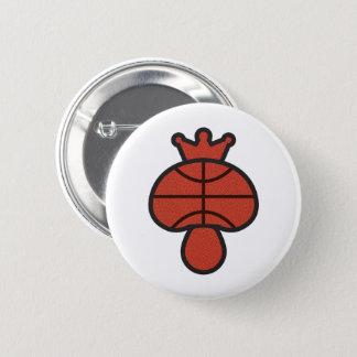 Mushroom Basketball theme 6 Cm Round Badge