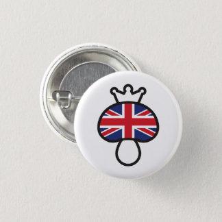 Mushroom British flag 3 Cm Round Badge