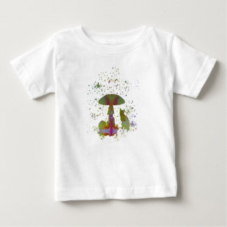 Mushroom Cat Baby T-Shirt