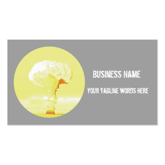 mushroom cloud  dynamic card pack of standard business cards