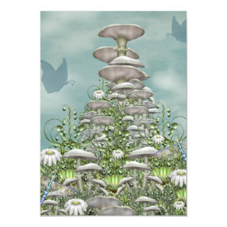 Mushroom Club Magnetic Invitations