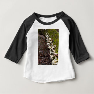 mushroom_downed tree_moss_winter baby T-Shirt