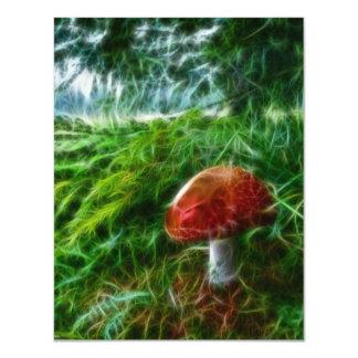 Mushroom Fractal Forest 11 Cm X 14 Cm Invitation Card