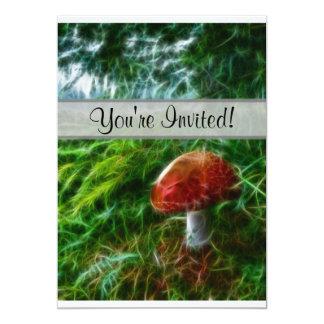 Mushroom Fractal Forest 13 Cm X 18 Cm Invitation Card