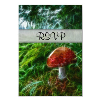 Mushroom Fractal Forest 9 Cm X 13 Cm Invitation Card