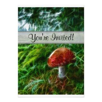 Mushroom Fractal Forest Invitations