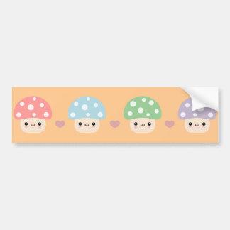 Mushroom Friends Bumper Sticker