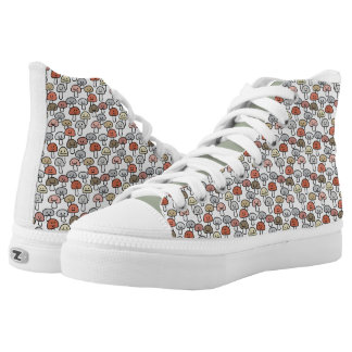 Mushroom friends hanging out Mushrooms Toadstool Printed Shoes