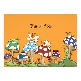 Mushroom Garden Friends Notecard Custom Announcements