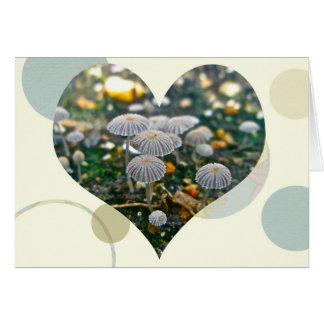 Mushroom Garden Heart Card
