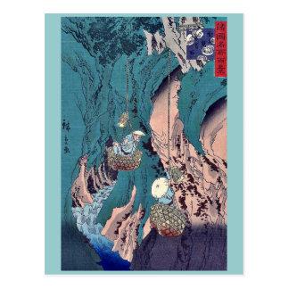 Mushroom gathering in Kishu by Utagawa,Hiroshige Postcard
