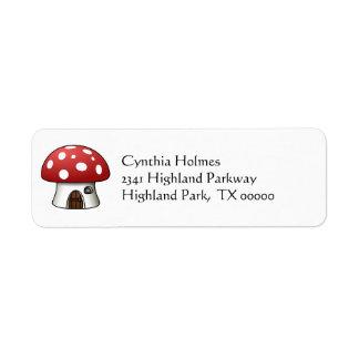 Mushroom House Address Labels