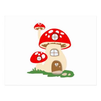 Mushroom House Postcard