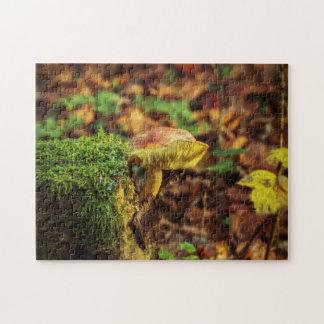Mushroom on a Treestump Puzzle