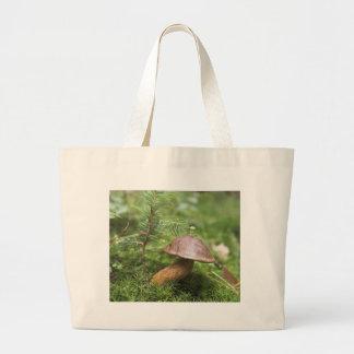 Mushroom On Moss Large Tote Bag