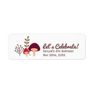 Mushroom Patch Return Address Label