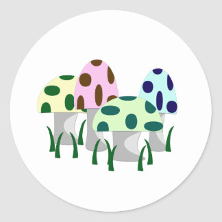 Mushroom Patch Round Sticker