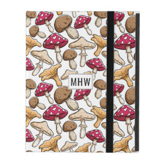 Mushroom Pattern custom monogram device cases