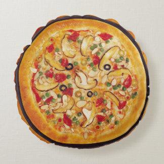 Mushroom Pizza Round Cushion