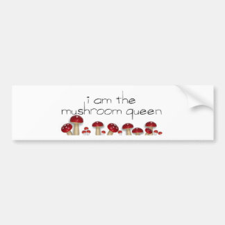 Mushroom Queen Bumper Bumper Sticker