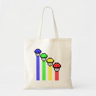 Mushroom Rainbow Budget Tote Bag
