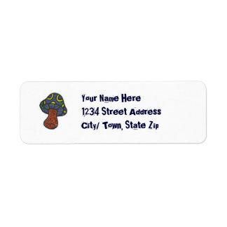 mushroom return address labels