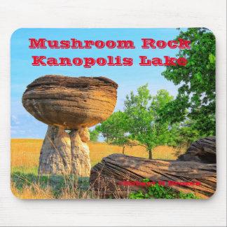 Mushroom Rock Park Mouse Pad