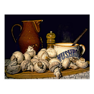 Mushroom Soup Kitchen Still Life Postcard