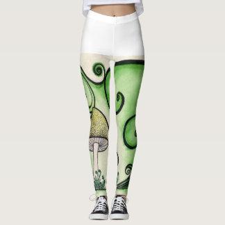 Mushroom swirly leggings