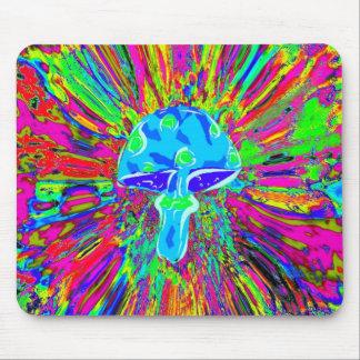 Mushroom Tye Dye Neon Mouse Pad