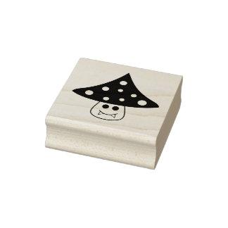 Mushroom Vampire Rubber Stamp