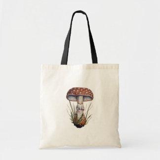Mushroom Vintage Print Amanita Rubescens Fungus Bag