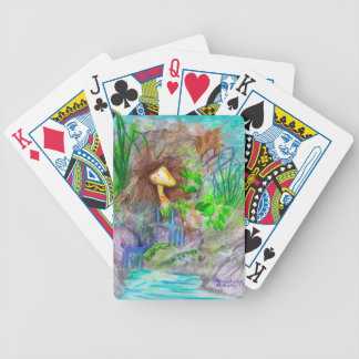 Mushroom  Waterfall Playing Cards