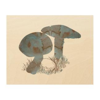 Mushroom Wood Wall Art