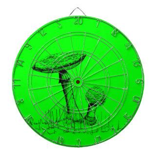 Mushrooms and Toadstools art. Dartboard