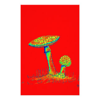 Mushrooms and Toadstools art. Stationery