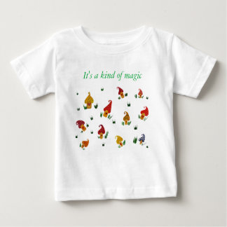 Mushrooms Baby Fine Jersey T-Shirt, White Baby T-Shirt