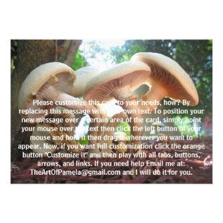 Mushrooms Dancing Personalized Invite
