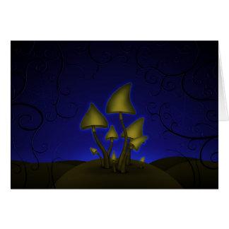 Mushrooms (Halloween Night) Greeting Card