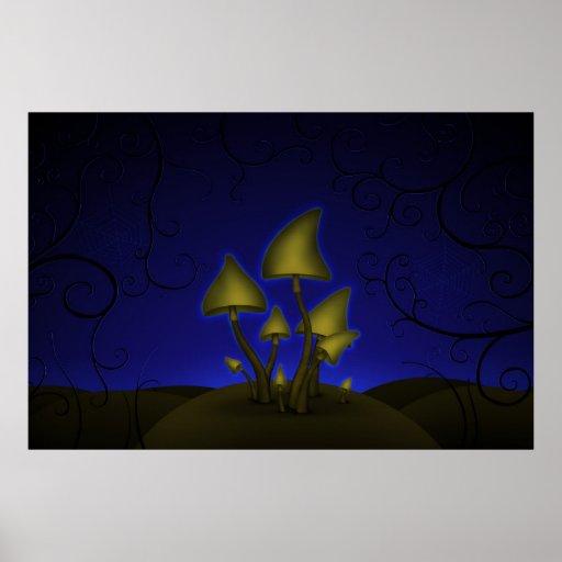Mushrooms (Halloween Night) Posters