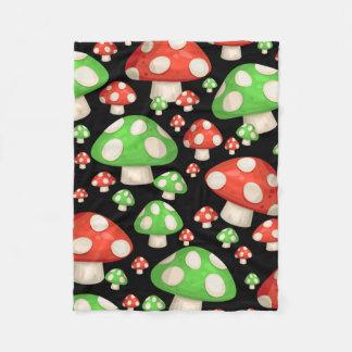 Mushrooms in the Forest Fleece Blanket