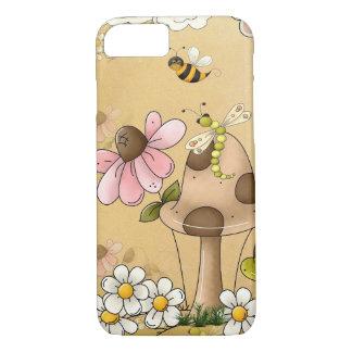 Mushrooms Neutral Brown Turtle Animal Children Art iPhone 7 Case