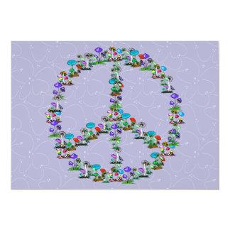 Mushrooms Of Peace 13 Cm X 18 Cm Invitation Card