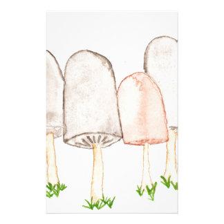 Mushrooms Stationery Design