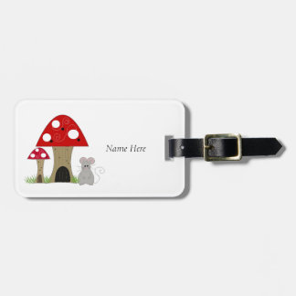 Mushrooms with Little Mouse Luggage Tag