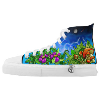 Mushroomy hippy sunshine boots high tops