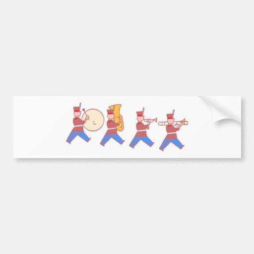 Musi-edge parade musicians bumper stickers