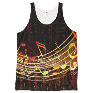 Music 4 All-Over print tank top